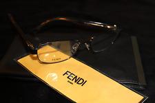 NEW FENDI Eyeglass Frames 0005 7QI 53-16-135 Brown Eyeglasses Authentic