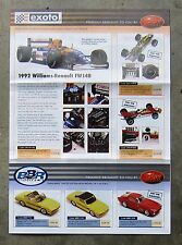 EXOTO 1/18 Diecast BBR 1/43 Resin model CATALOGUE brochure by TRAX FERRARI GT40