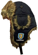 NEW Navy LEINSTER RUGBY Trapper HAT Winter Mens Ear Flaps Team Beanie Cap Furry