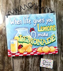 When Live Gives You Lemons Make Lemonade USA Happy  Indoor Decor from DecoWords