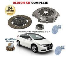 Per HONDA CIVIC 1.8 i VTEC r18z4 FK2 2012 -- > NUOVO Frizione Kit Coperchio Set Cuscinetto