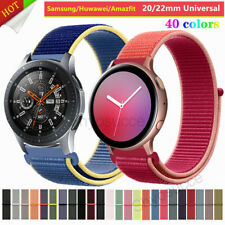 Nylon Strap Woven Loop Band For Samsung Galaxy Watch 42mm 46mm Active 2 40 44mm