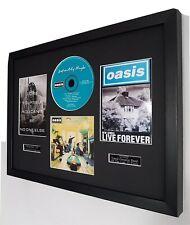 More details for oasis-'definately maybe' luxury framed original cd-noel gallagher-live forever-