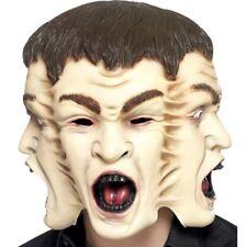Halloween Fantasia Abito Orrore 3 Maschera tre di fronte testa Maschera Da Smiffys