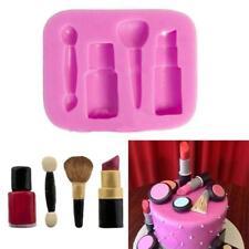 Silicone 3D Makeup Tools Design Fondant Cake Molds Chocolate Mould Decoration @L