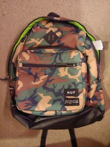 JanSport x HUF Right Pack Woodland Dark Green Camo Laptop Carry 31L Backpack Bag