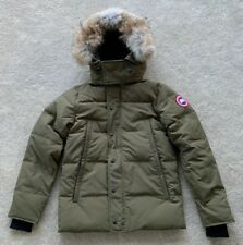 """Canada Goose Mens Military Green Wyndham Parka Coat Size Small 36""""-37"""" Chest New"""