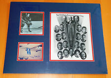 MUZZ PATRICK 1940 STANLEY CUP NHL N Y RANGERS AUTO SIGNED MATTED PHOTO PSA DNA