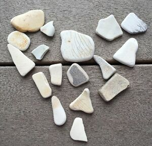 17 Pcs Crackled Pottery China Porcelain Sea Glass Art Mosaic Crafts  #39
