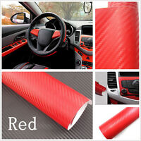 Carbon Fiber Vinyl Wrap Sticker Auto Interior Decal Console Dashboard 30X127CM