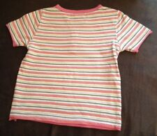 CHEROKEE girls striped t-shirt 100% cotton age 4-5 years
