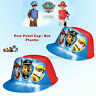 Paw Patrol Red Blue Plastic Cap Hat Kids Boys Marshall Chase Rubble Costume