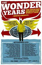 """Wonder Years """"Greatest Generation World Tour"""" 2014 North American Concert Poster"""