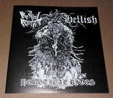 "BESTIAL RAIDS / HELLISH - Heretical Rites (7"" Blue Vinyl)"
