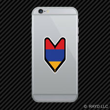 Armenian Driver Badge Cell Phone Sticker Mobile Armenia ARM AM