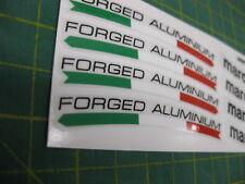 8 marchesini forged aluminium racing wheel rim stickers