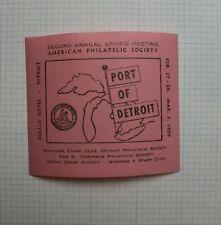 1959 Michigan Stamp Club Port of Detroit 2nd Annual Spring Meeting Souvenir Ad