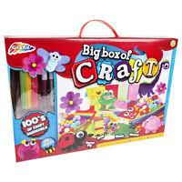 Pink Big Box Of Craft Children's Kids Create Art Materials Set 100+ Pieces Girls
