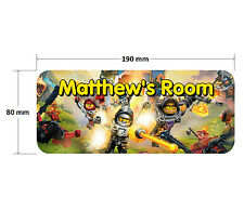 Lego Nexo Knights Door Plaque - Personalised Childrens Bedroom Sign Girls Boys
