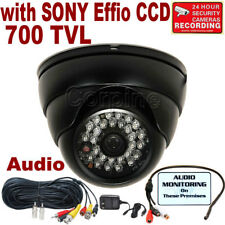 700TVL Audio Security Camera w/ SONY Effio CCD IR LEDs Night Vision Outdoor mjm