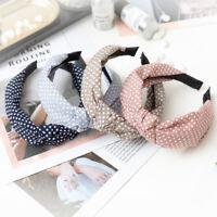 Girls Knot Headband Dot Print Hairband Hair Band Headwear Head Band Headwear