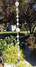 Handmade Healing Quartz Stone Pearl Suncatcher/Prism W/Swarovski Elements USA