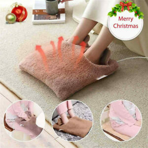 New Electric Heated Warm Cosy Foot & Hand Warmer Heating Slippers Sofa Pillow