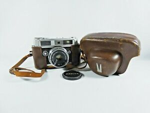 Vintage Mamiya Ruby 35mm Rangefinder Film Camera Sekor 1:2.8 f=48mm Lens & Case