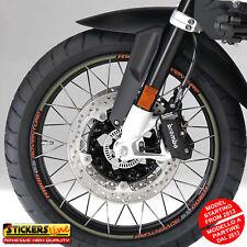 Adesivi cerchi moto BMW R1200GS ADVENTURE versione dal 2013 wheel stickers MOD#6