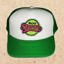 Futurama Enjoy Slurm Logo Cap Fry Bender Leela Amy Embroidered Green & White Hat