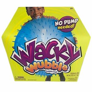 NSI Wacky Wubble Bubble Ball No Pump Needed Ages 6+ BLUE NEW