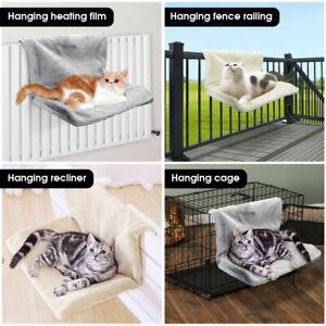 Cat Dog Puppy Pet Radiator Bed Warm Fleece Basket Cradle Hammock Metal Frame