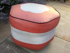 Vintage Pouffe Footstool With Casters
