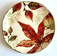 One Pier 1 Asheville Dinner Plate Thanksgiving Fall Leaves Autumn Gorgeous