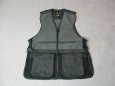 Cabelas Vest Adult 2XL XXL Black Gray Full Zip Outdoors Photographer Hunting Men
