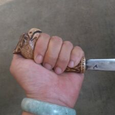KARAMBIT BADIK KNIFE Handmade PENCAK Silat CARVED TRADITIONAL WEST JAVA EAGLE