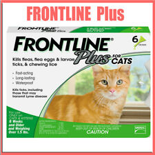 Frontline Plus Cat Flea and Tick Remedy For Cats for 6 Month Supply 6 Doses
