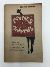 Anne's Animals 1922 Ilustrated Booklet Melbourne Australia