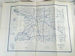 Columbia Co. Wisconsin Map January 1962 State Highway Commission 28 x 20