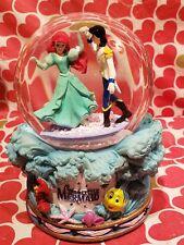 "Disney LITTLE MERMAID Ariel & Eric Plays ""PART of YOUR WORLD"" Snow Globe"