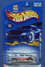 2003 Hot Wheels #128 Light Blue Porsche 911 GT3 Cup w/PR5 Wheels