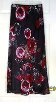 NWT Laura Ashley Purple Multi Color Mid-Calf Length Skirt Silk UK 8 EUR 34 US 4