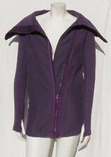 LULULEMON Purple Thick Fleece Asymmetric Zip Long Sweatshirt Jacket Coat sz XS 2