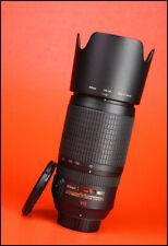 Nikon AF-S 70-300mm F4.5-5.6 G VR ED AF Zoom Lens + Front & Rear Lens Caps +Hood