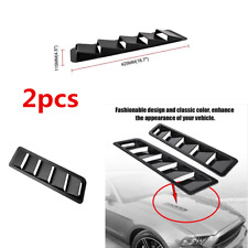 Black ABS Car Hood Vent Louver Scoop Cover Air Flow Intake Cooling Panel Trim