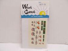 MES-48783West Coast WE1-13 US Decals 1:87,mit Original Verpackung,