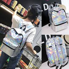 Women Girls Holographic Gammaray Hologram Backpack Shoulder School Bags Rucksack