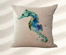 Home decoration pillow cases marine ocean seahorse cushion cover unique pillow
