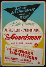 The Guardsman/The Emperor's Candlesticks (1931/1937) New Zealand One Sheet