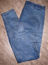 Silence + Noise Coated High Rise Acid Wash Jeggings Women's Size Small